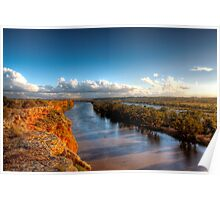 Cliffs, River, Backwater - The River Murray, South Australia Poster