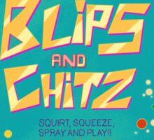 Rick N Morty Blips N Chitz Sticker