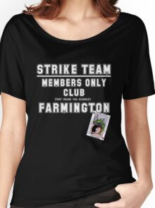 Strike Team Members Club (White letters) Women's Relaxed Fit T-Shirt