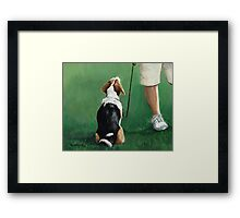 Beagle Sit Framed Print