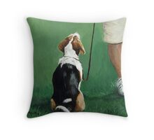 Beagle Sit Throw Pillow