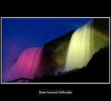 Niagara Falls - Nightly Illumination by Rose Santuci-Sofranko