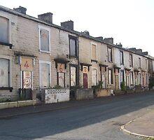 A street in Burnley, Lancashire by Katy  Fryd
