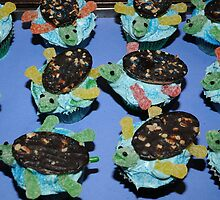 Sea Turtles Cup Cakes by eleanor p.  labrozzi