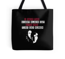 Giant black cat and Tiny gay human - Hollstein 2 Tote Bag