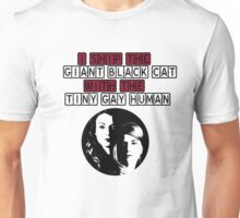 Giant black cat and Tiny gay human - Hollstein 2 Unisex T-Shirt