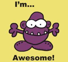 Grrrilla...I'm Awesome! Kids Tee