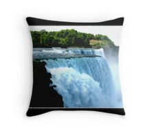 Niagara Falls - Oil Paint Effect Throw Pillow