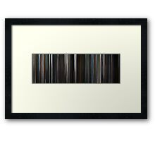 Moviebarcode: The Dark Knight (2008) Framed Print