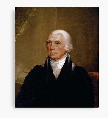 Portrait of President James Madison by Chester Harding (1830) Canvas Print