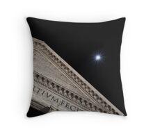 Moonbeams Behind the Pantheon Throw Pillow