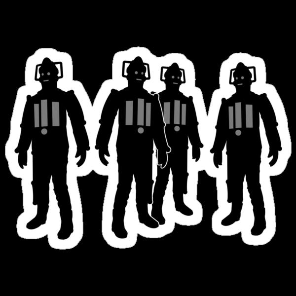 Cybermen Silhouette by Iain Maynard