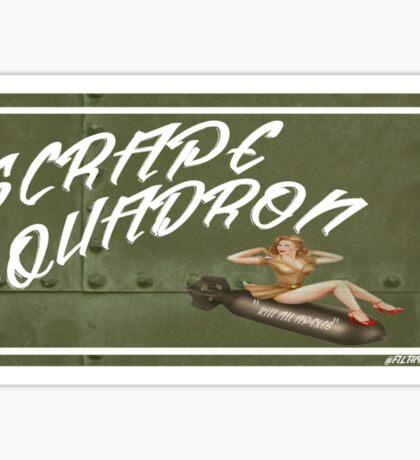 """""""Scrape Squadron"""" Slap Sticker"""