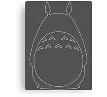 My Neighbor Totoro - Outline Canvas Print