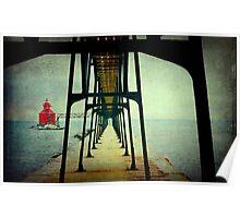 Sturgeon Bay Canal North Pierhead Lighthouse...USA ©  Poster