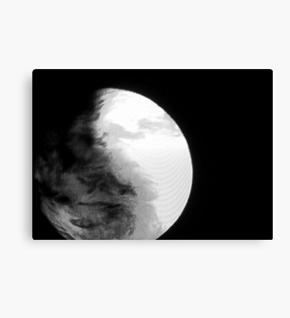 04-11-11: Pixel Planet Canvas Print