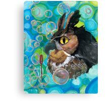 a Hoot; passin' the time watchin' bubbles float by Canvas Print