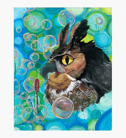 a Hoot; passin' the time watchin' bubbles float by Photographic Print