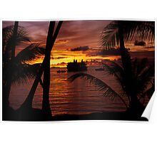 Truk Odyssey Offshore at Sunset Poster