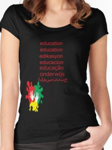 education t-shirt  Women's Fitted Scoop T-Shirt
