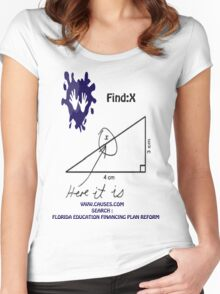 funny math t-shirt Women's Fitted Scoop T-Shirt