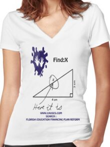 funny math t-shirt Women's Fitted V-Neck T-Shirt
