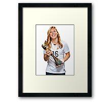 Lori Chalupny - World Cup Framed Print