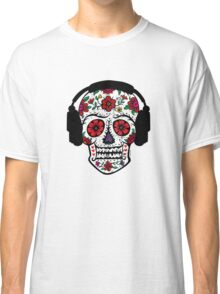 Sugar Skull with Headphones Classic T-Shirt