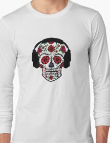 Sugar Skull with Headphones T-Shirt
