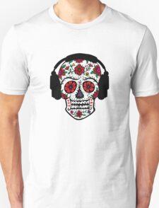 Sugar Skull with Headphones T-Shirt