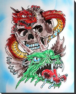Skull Dragons by Steve Berwick