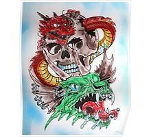 Skull Dragons Poster