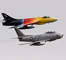 F86 Sabre and Hawker Hunter F58 by PhilEAF92