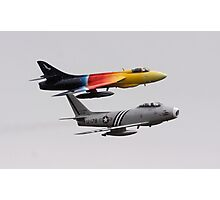 F86 Sabre and Hawker Hunter F58 Photographic Print