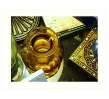 yellow vase-still life Art Print