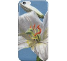 White lily flower iPhone Case/Skin