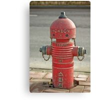 The INCHEON red hydrant robots Canvas Print