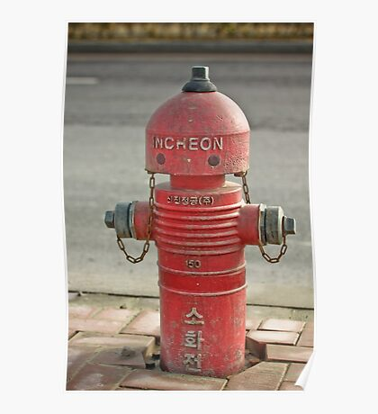The INCHEON red hydrant robots Poster