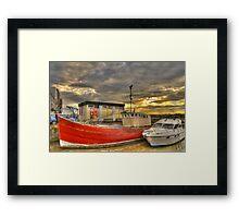 Red Boat - St. Andrews Framed Print
