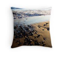 Lake Superior Rocks - Marathon Ontario Canada Throw Pillow