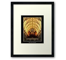 St. Joseph's Cathedral Choir Loft - Organ Pipes Framed Print