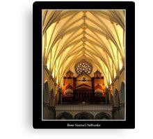 St. Joseph's Cathedral Choir Loft - Organ Pipes Canvas Print