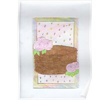 Chocolate Rose & Dots Cake Poster