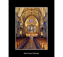 St. Joseph's Cathedral - front of Cathedral Photographic Print