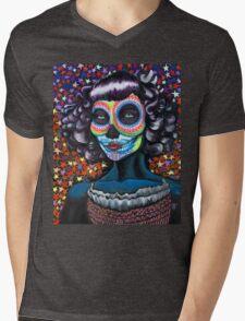 Chica de Los Muertos (Girl of the Dead) Mens V-Neck T-Shirt
