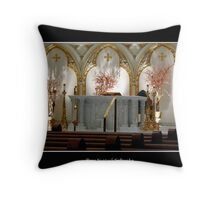 St. Joseph's Cathedral - main altar Throw Pillow