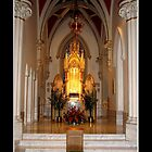 St. Joseph's Cathedral - Tabernacle by Rose Santuci-Sofranko