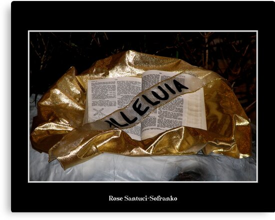 Alleluia!  Bible and sash by Rose Santuci-Sofranko