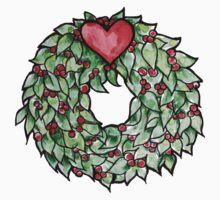 Yule christmas wreath Kids Tee