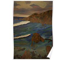 Crayfish Creek Landscape - Oil Painting - Tasmania, Australia Poster